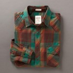 Fossil Hugo Plaid Western Shirt