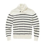 Fossil Dalton Shawl Stripe Sweater