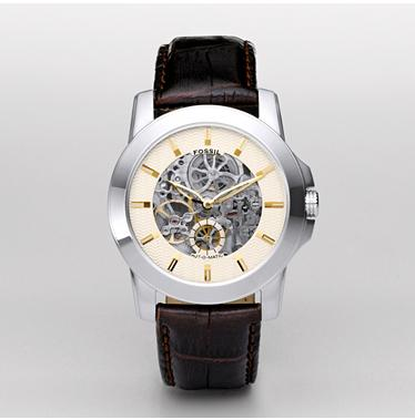 Fossil ME1026, Skeleton Champagne Dial