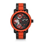 Nate Multifunction Silicone Watch Black And Red Black, Fashionable Men's Mechanical Watches Fossil Discount ME1139