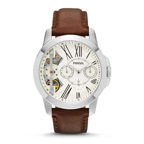 Fossil Grant Twist Multifunction Brown Leather Watch Me1144