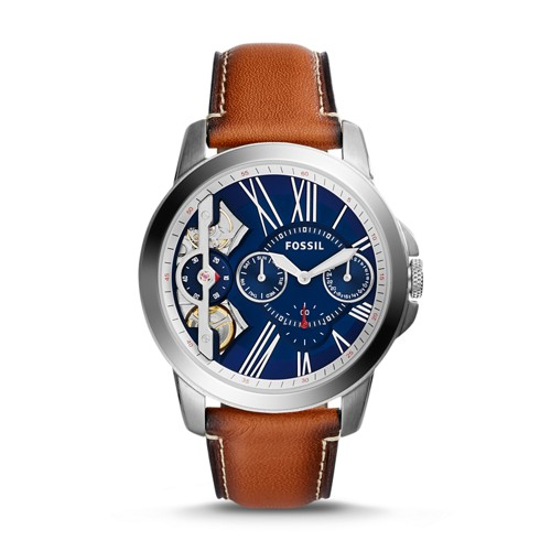 Grant Twist Three-Hand Luggage Leather Watch ME1161
