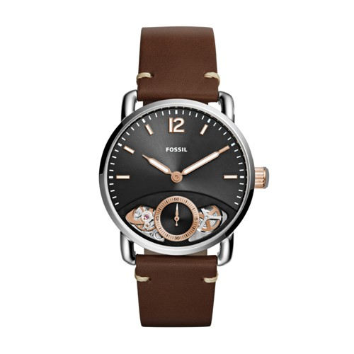 Fossil The Commuter Twist Brown Leather Watch ME1165