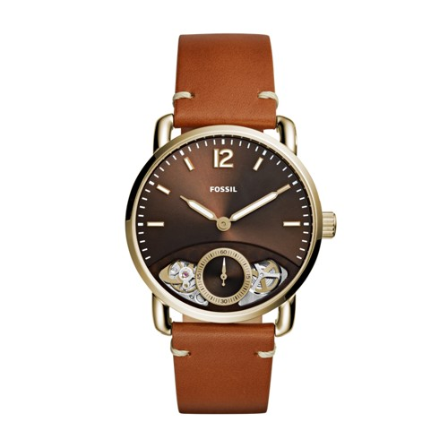 Fossil The Commuter Twist Tan Leather Watch ME1166