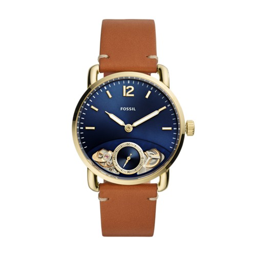 fossil The Commuter Twist Luggage Leather Watch ME1167