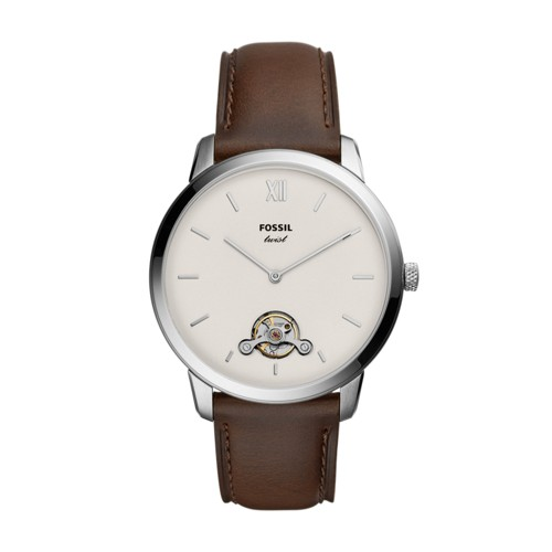 fossil Neutra Twist Brown Leather Watch ME1169