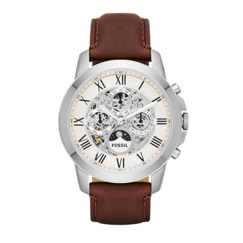 Fossil Grant Automatic Brown Leather Watch Me3027