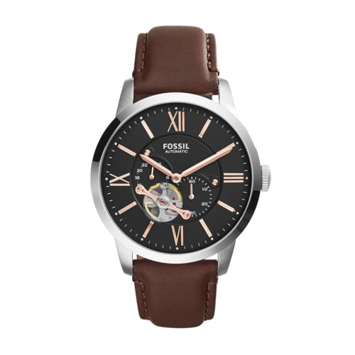 Townsman Automatic Leather Watch - Brown ME3061
