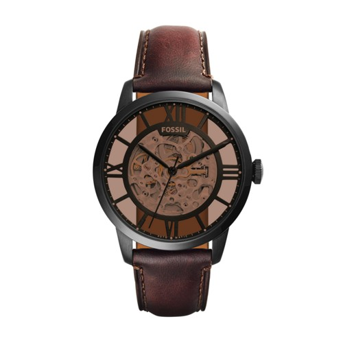 Townsman Automatic Dark Brown Leather Watch ME3098