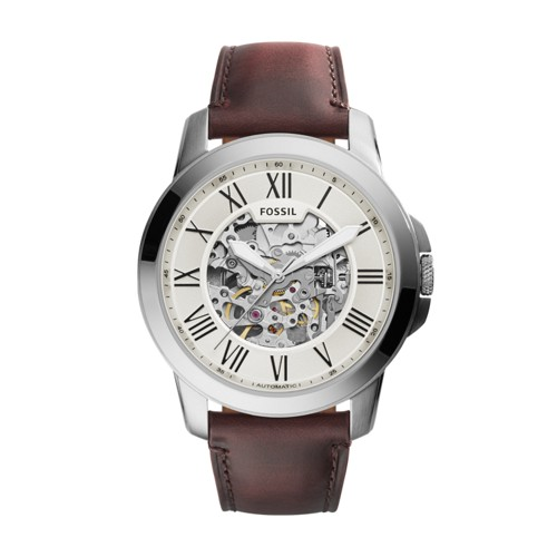 Fossil Grant Automatic Dark Brown Leather Watch Me3099