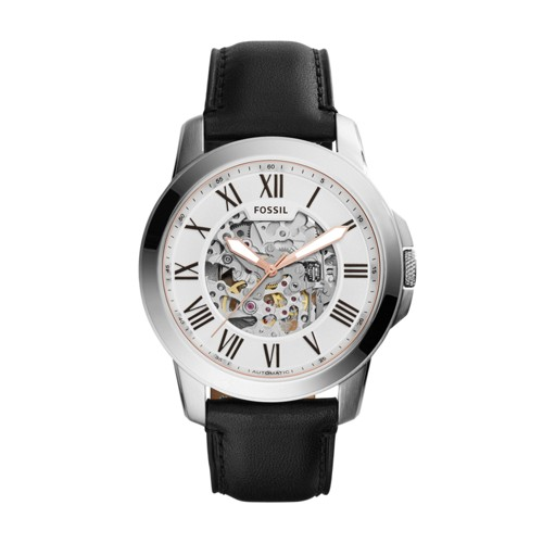 Grant Automatic Black Leather Watch ME3101
