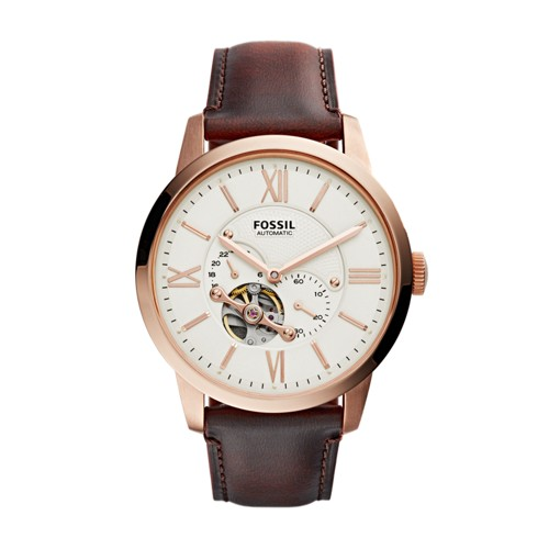 Fossil Townsman Automatic Dark Brown Leather Watch Me3105