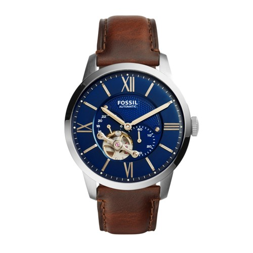 Fossil Townsman Automatic Brown Leather Watch ME3110