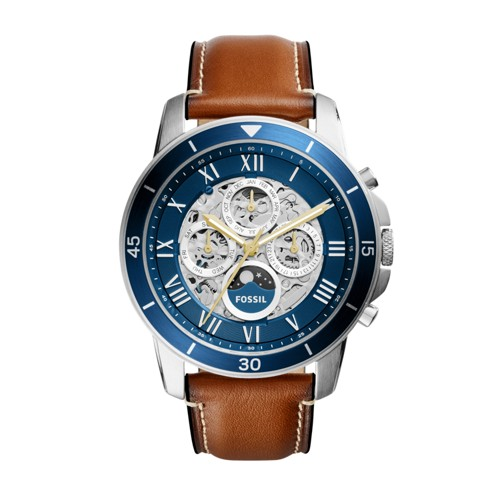 Fossil Grant Sport Automatic Luggage Leather Watch ME3140