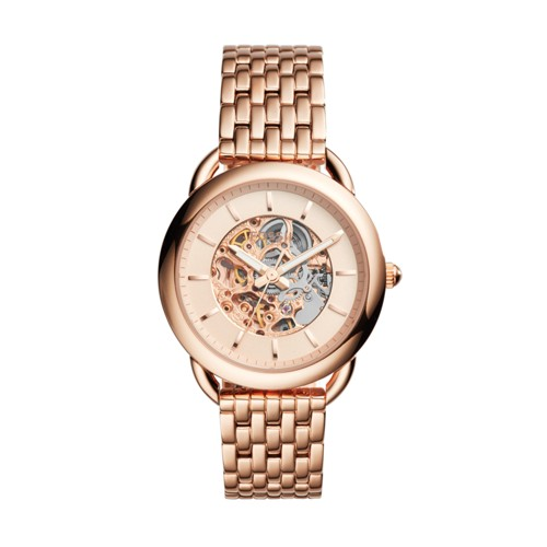 Fossil Tailor Automatic Rose Gold-Tone Stainless Steel Watch Me3145