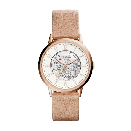 Fossil Vintage Muse Automatic Sand Leather Watch ME3152