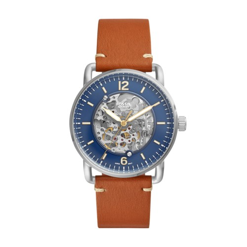 Fossil Commuter Automatic Brown Luggage Watch ME3159