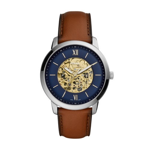 fossil Neutra Automatic Luggage Leather Watch ME3160