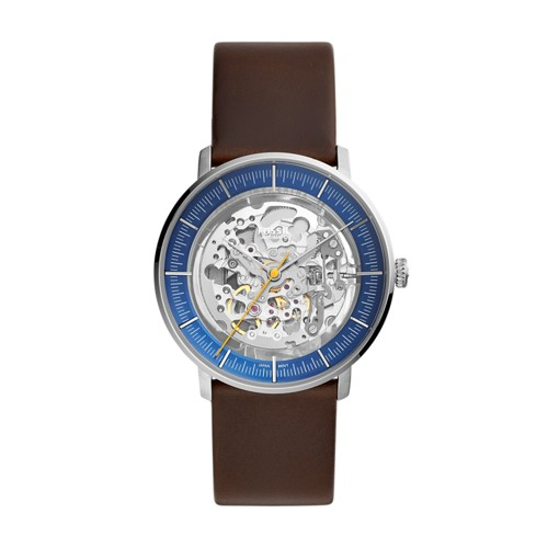 fossil Chase Automatic Brown Leather Watch ME3162