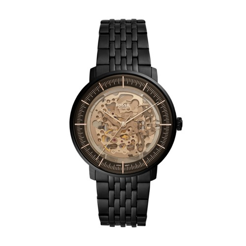 fossil Chase Automatic Black Stainless Steel Watch ME3163