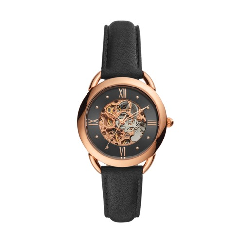 Tailor Mechanical Black Leather Watch ME3164