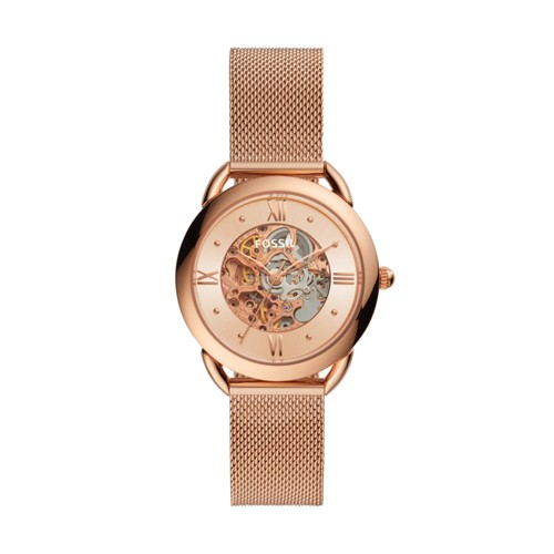 fossil Tailor Mechanical Rose Gold-Tone Stainless Steel Watch ME3165
