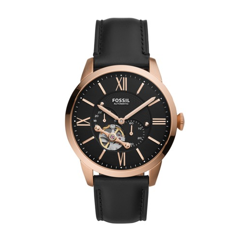 Townsman Automatic Black Leather Watch ME3170
