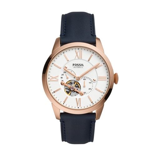 Fossil Townsman Automatic Navy Leather Watch  jewelry