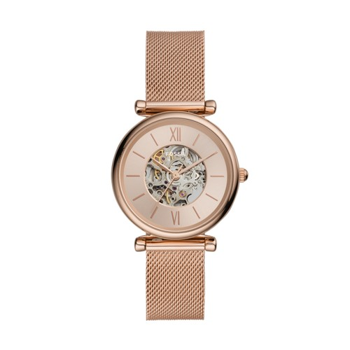 Carlie Automatic Rose Gold-Tone Stainless Steel Mesh Watch ME3175