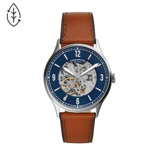 Fossil Forrester Automatic Luggage Leather Watch  jewelry