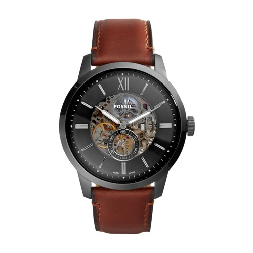 Townsman 48mm Automatic Amber Leather Watch ME3181