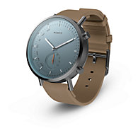 bca222445 MIS5027P · Compare · Quicklook · Misfit · New - Misfit Command Hybrid  Smartwatch in Gunmetal Stainless Steel with Walnut Swimproof Silicone  Leather Strap