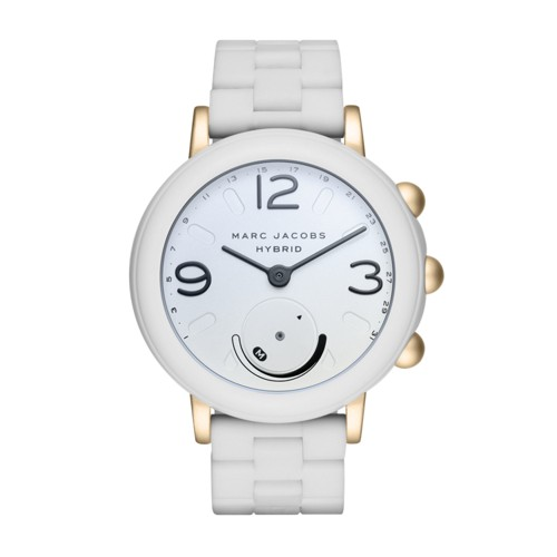 Marc-Jacobs Marc Jacobs Riley White Silicone Hybrid Smartwatch Mjt1004 Jewel..