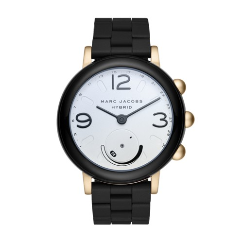 Marc-Jacobs Marc Jacobs Riley Black Silicone Hybrid Smartwatch Mjt1005 Jewel..