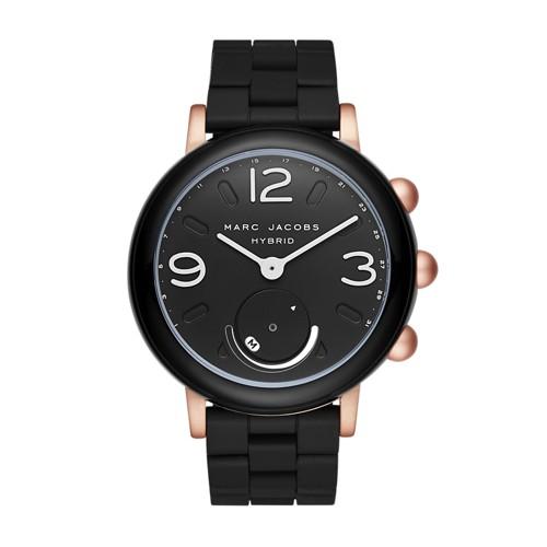 Marc-Jacobs Marc Jacobs Riley Black Silicone Hybrid Smartwatch Mjt1006 Jewel..