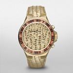 Gramercy Gold Tone Python Baguette Glitz Watch