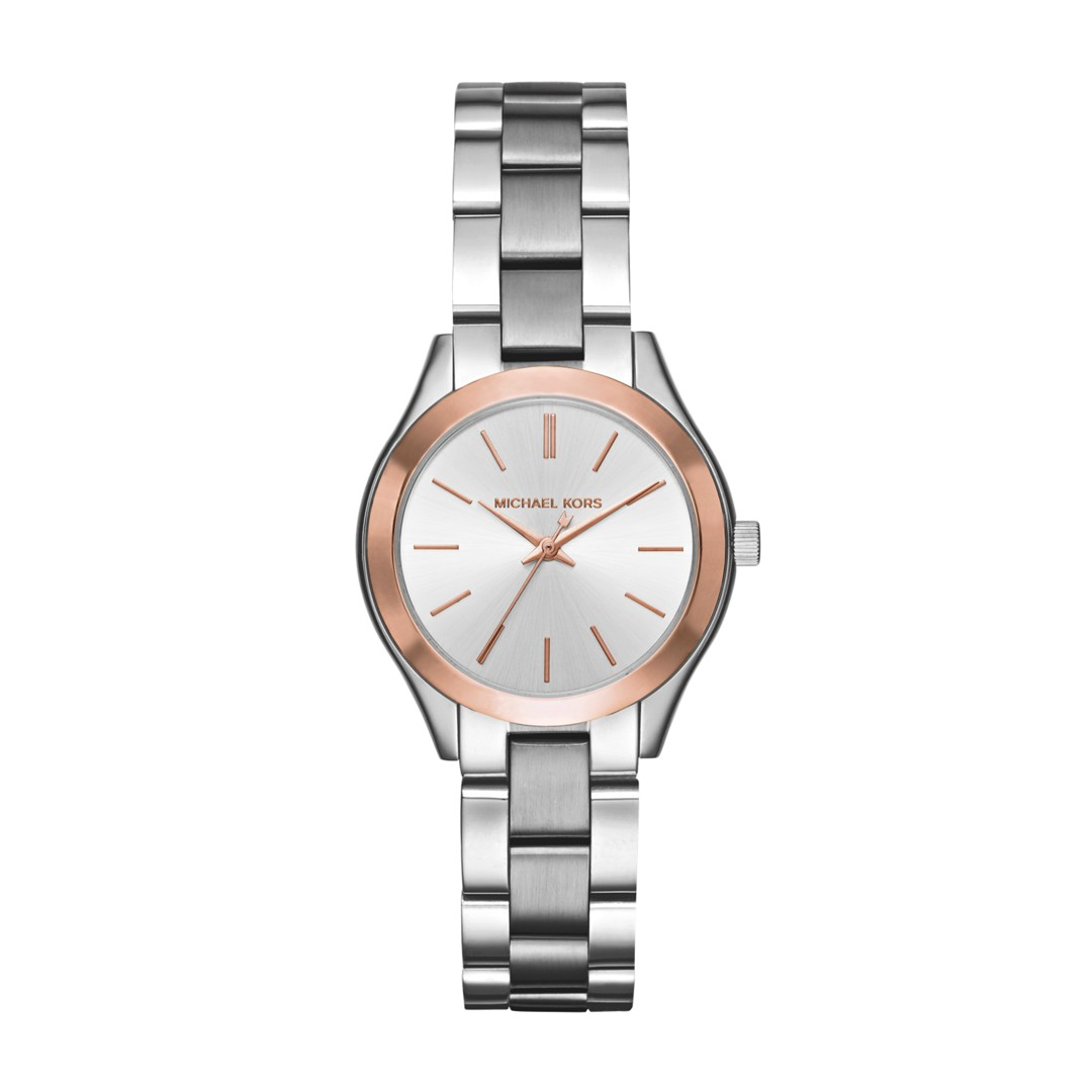 Michael Kors Mini Slim Runway Stainless-Steel Three-Hand Watch Mk3514 Jewelr..