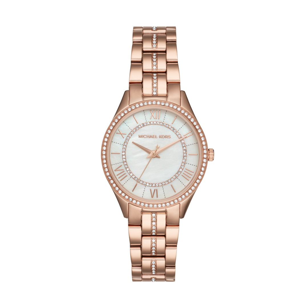 Michael Kors Lauryn Rose Gold-Tone Three-Hand Watch Mk3716 Jewelry - MK3716-..