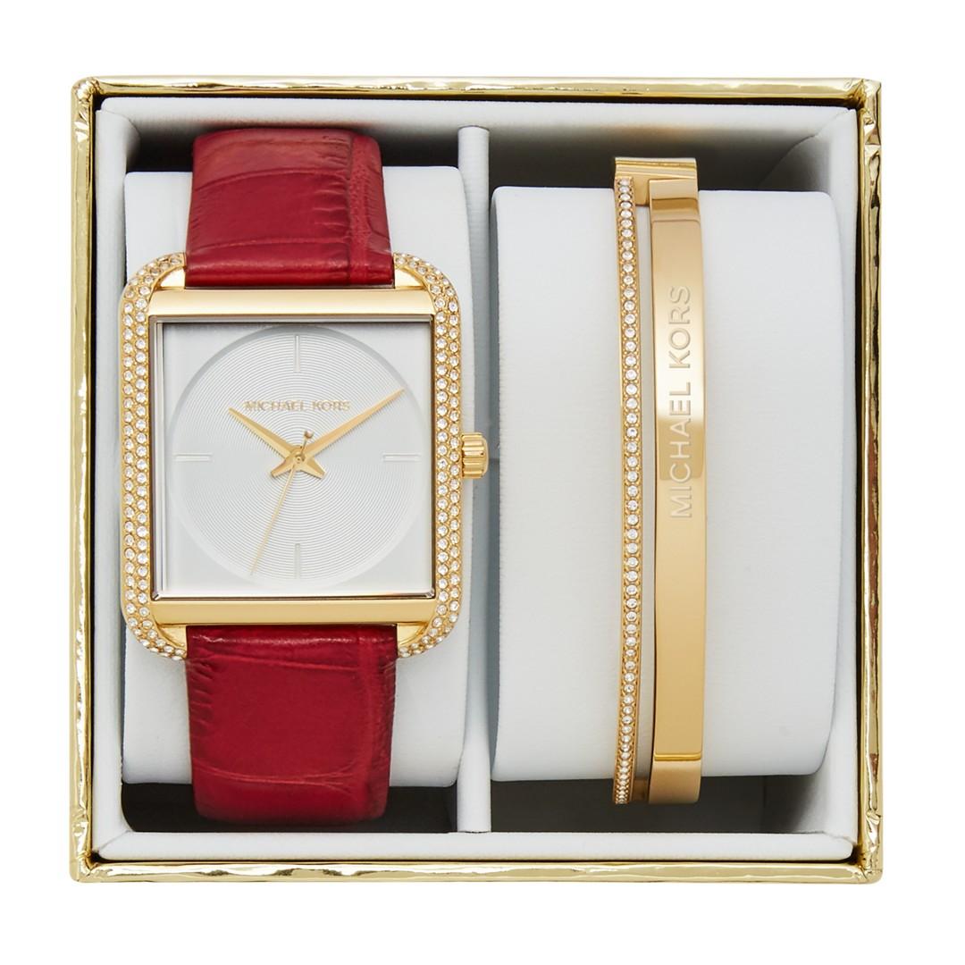 Michael-Kors Michael Kors Women&Apos;S Lake Gold-Tone Gift Box Set Mk3829 Je..