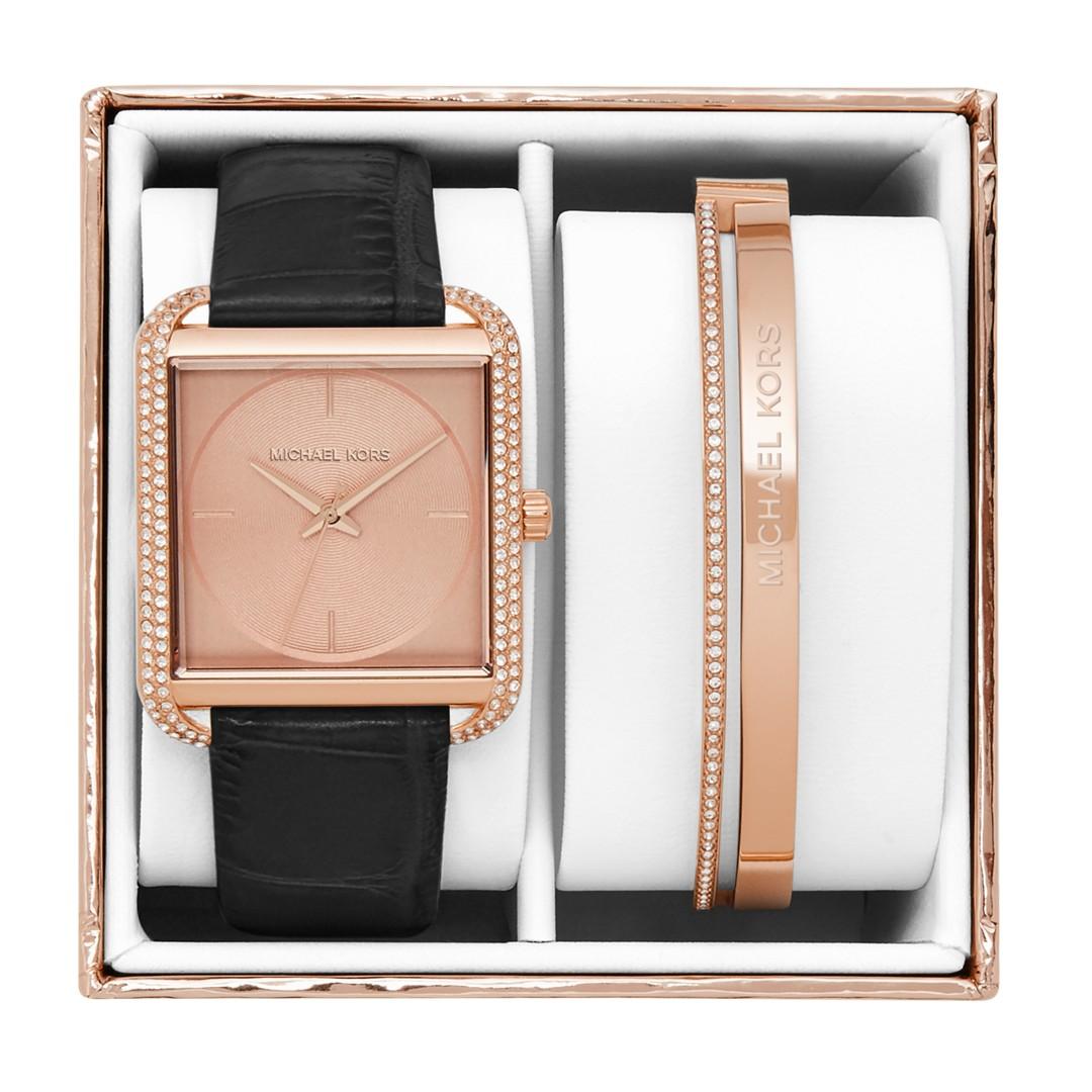 Michael-Kors Michael Kors Women&Apos;S Lake Rose Gold-Tone Gift Box Set Mk3830 Jewelry - MK3830-WSI