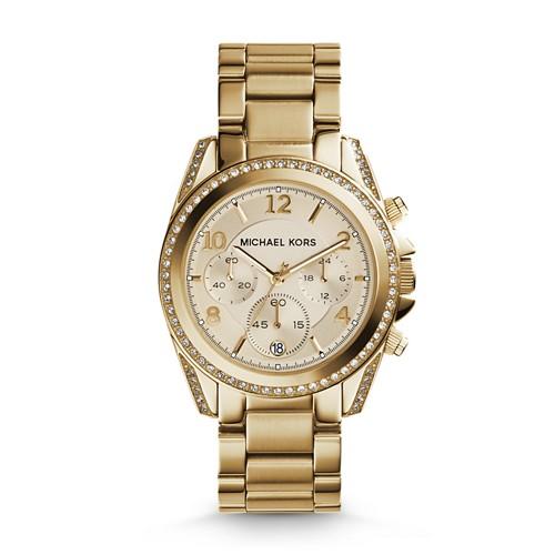 Michael Kors Michael Kors Gold-Tone Blair Watch Mk5166 Gold