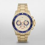 Everest Midsized Gold Tone Chronograph Watch