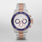Everest Midsized Two Tone Chronograph Watch