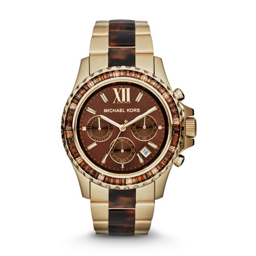 f4058c35e990 ... Ladies Watch MK5873 UPC 796483054332 product image for Michael Kors  Everest Gold Tone And Tortoise Chronograph Watch Mk5873 Brown ...