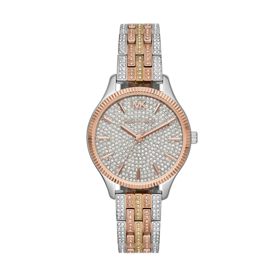 Michael Kors Michael Kors Women&Apos;S Lexington Three-Hand Pavé Tri-Tone St..
