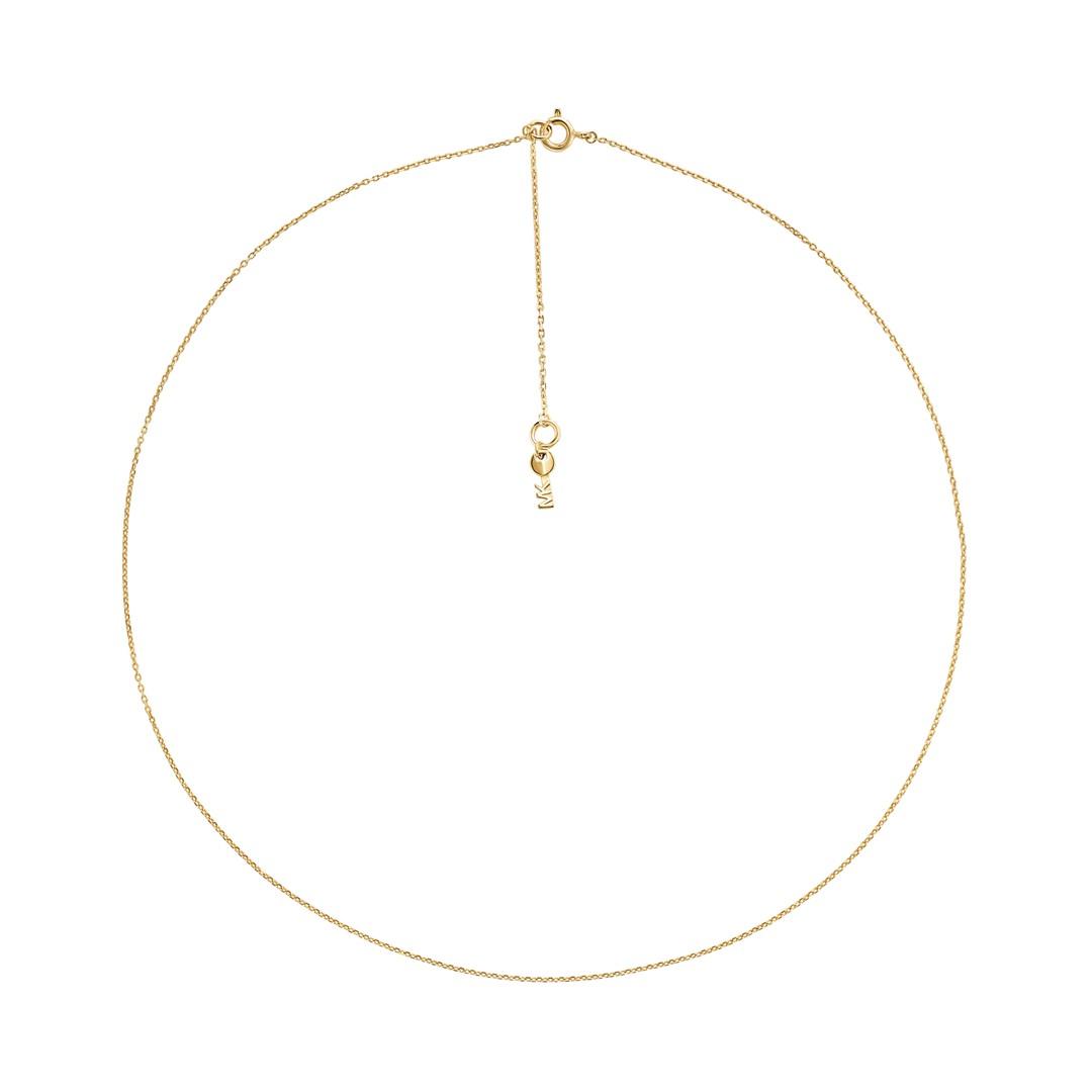 Michael Kors Michael Kors Women&Apos;S Sterling Silver Starter Necklace Mkc1109aa710 Jewelry - MKC1109AA710-WSI