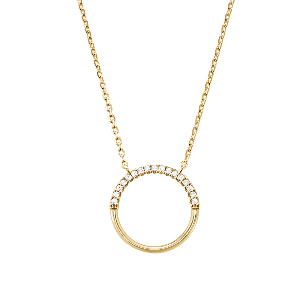 Michael Kors Michael Kors Women&Apos;S Sterling Silver Pave Ring Starter Necklace Mkc1110an710 Jewelry - MKC1110AN710-WSI