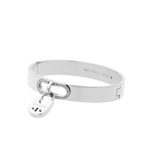 Micheal Kors Silver-Tone Padlock Bracelet Mkj4611040 Jewelry - MKJ4611040-WSI