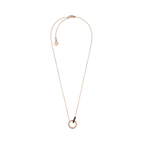 Micheal Kors Rose Gold-Tone Circle Necklace Mkj4680791 Jewelry - MKJ4680791-..