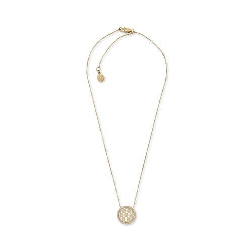 Michael-Kors Logo Gold-Tone Pendant Necklace Mkj5370710 Jewelry - MKJ5370710..